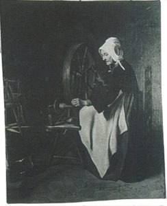 Title: Femme Agee au Rouet (Old Woman at the Spinning Wheel) Artist: Bonvin